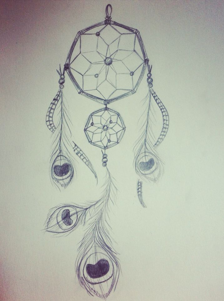 Attrape r ve dreamcatcher plumes de paon dreamcatcher dessins pinterest - Plume de paon dessin ...