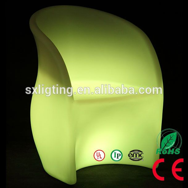 SX-6080-CHR 16 Colors LED Furniture Waterproof Stool Indoor/Outdoor Wireless Remote LED Living Room Seat