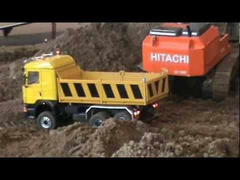 expo Verona modellini camion movimento terra