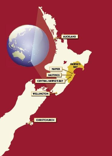 Hawke's Bay winegrowing region