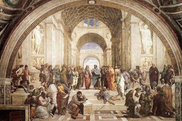 School of Athens | Raphael | 1510-11 | fresco | 303 1/8 (width at base) | Vatican Museums and Galleries, Vatican City, Italy