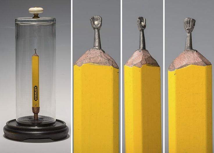 Best Carvings Images On Pinterest Pencil Art Pencil Carving - Artist carves miniature pop culture sculptures into pencils