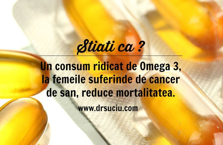 Photo Consumul ridicat de omega 3 in cancer reduce mortalitatea drsuciu