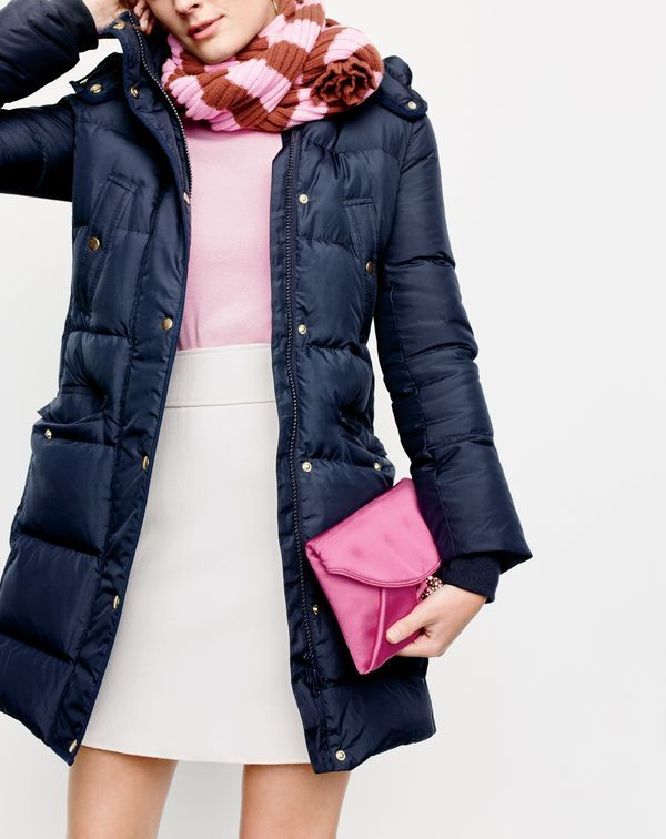 A not-too-puffy puffer. Our J.Crew women's wintress coat is slim, flattering and warm. That's like three gifts in one.