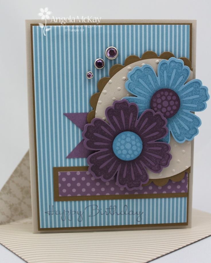 North Shore Stamper: Colors Combos, Happy Birthday, Cards Ideas, Cards Gener, Birthday Cards, Birthday Wish, Stampin Up, Bunch Stamps, Stamps Sets