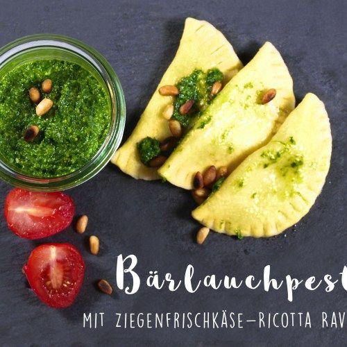 Rezept: Ziegenfrischkäse-Ravioli mit Bärlauchpesto