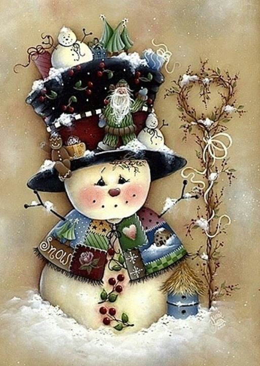 Tole painted snowman painting pinterest