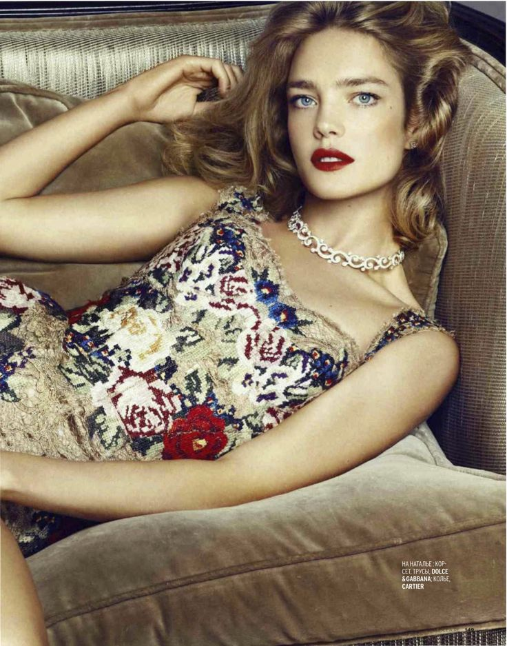 natalia vodianova for marie claire russia december 2012