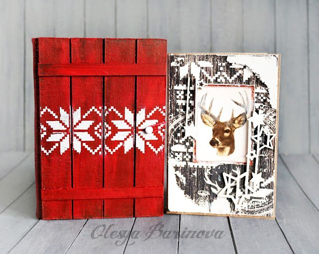 Olesya Barinova: Деревянные блокноты, открытки, домики и предложение