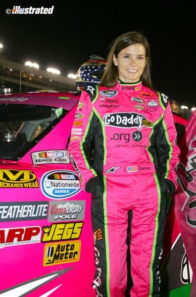 Danica Patrick wore — and drove — all pink at Charlotte last October. (Jeff Robinson/NASCAR Illustrated)