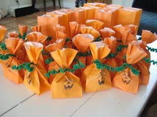 easy pumpkin treat bags