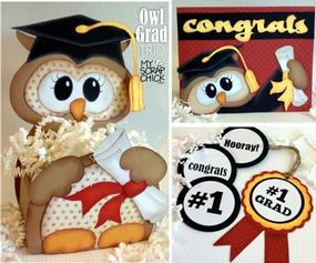 Owl Graduation Trio: click to enlarge