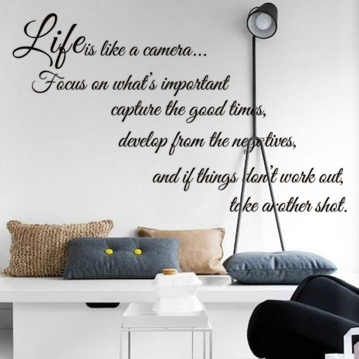 Details about LIFE IS like a cameia  Life QUOTE wall sticker vinyl decal home room decor 8205 Remonable wall stickers quote