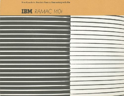 New speeds with Random Access Accounting with the IBM RAMAC 1401: Accessible Accounting, Eye Bees, Bees Mmm, Random Accessible, Graphics Design, Ramac 1401, Ibm Ramac