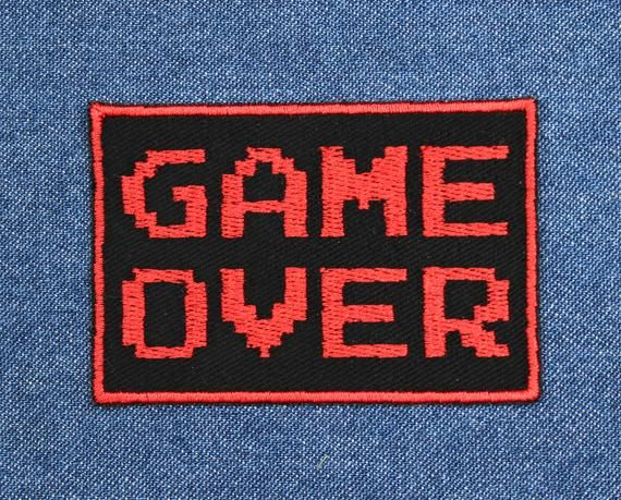 Game Over Patch 3 X 2 Video Game Patches Gamer Etsy In 2020 Patches Jacket Backpack Patches Cool Patches