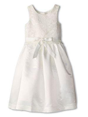 Us Angels Girls Lace Overlay Dress Ivory Sizes  2T-12