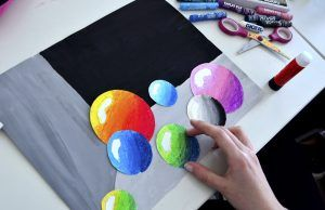 Marbles in Mixed Media