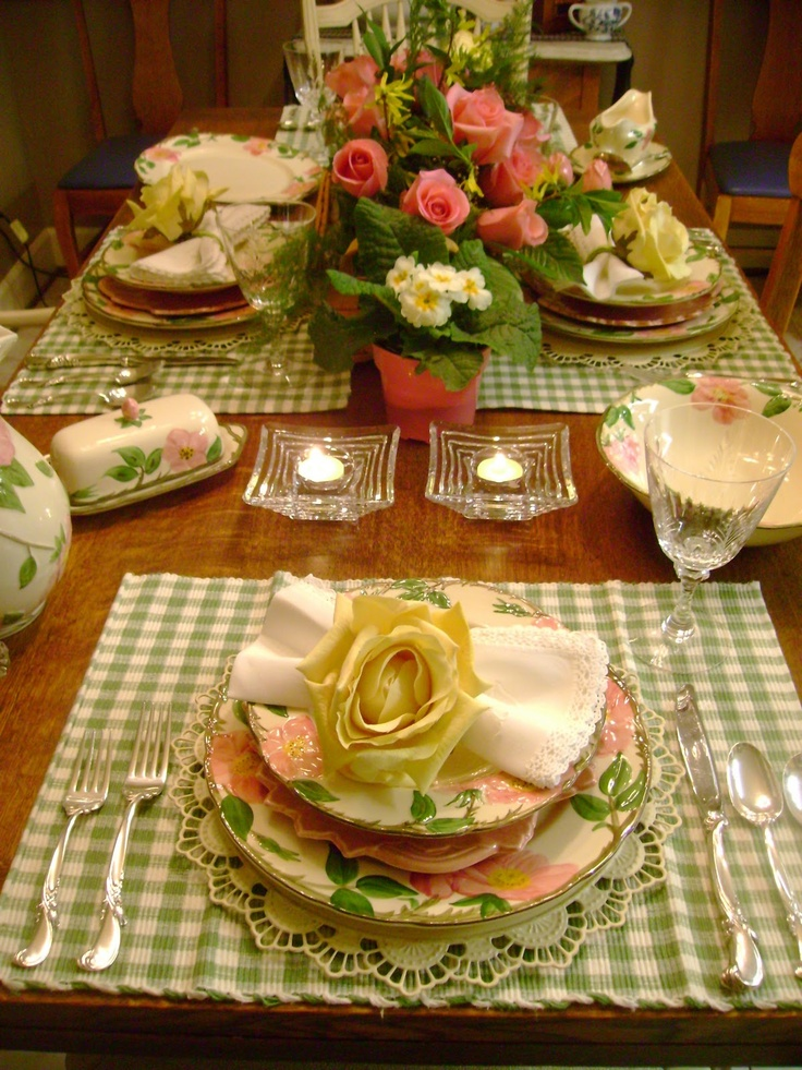 I grew up with these dishes, there were times I thought I would wash the flowers off. It's the desert rose pattern, I still have some that were made in Germany.