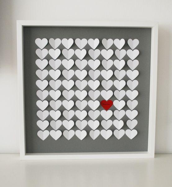 Herzen im Bilderrahmen - süße Idee für das Gästebuch - evtl. auch mit eingearbeiteten Fotos