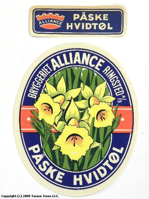 Labels Påske Hvidtøl A/S Bryggeriet Alliance Ringsted Zealand Denmark