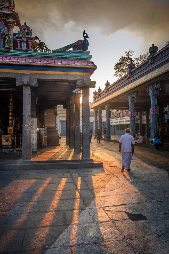 Morning rays at Kapaleswar temple , Chennai.