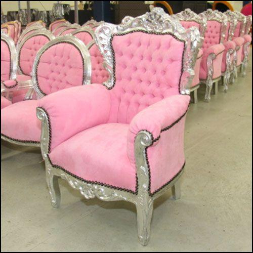 Roze meubels
