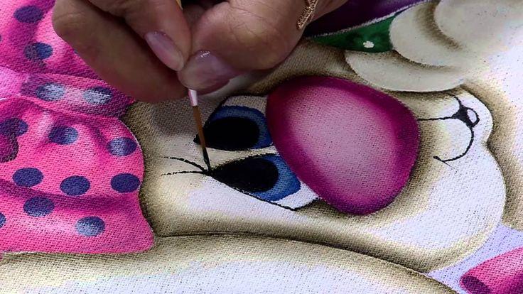Mulher.com 06/03/2015 Pintura em tecido coelho por Lilinha Silva Parte 2