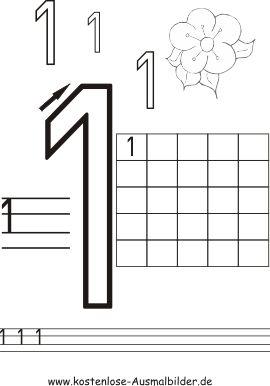 Zahlen schreiben üben | Zahlen schreiben üben ausmalen | Ausmalbilder ::                                                                                                                                                                                 Mehr