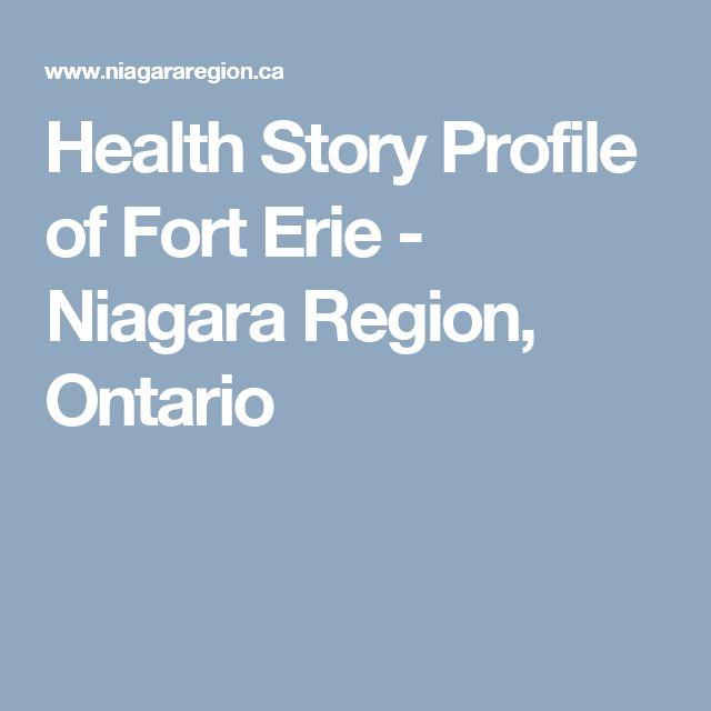 Health Story Profile of Fort Erie - Niagara Region, Ontario