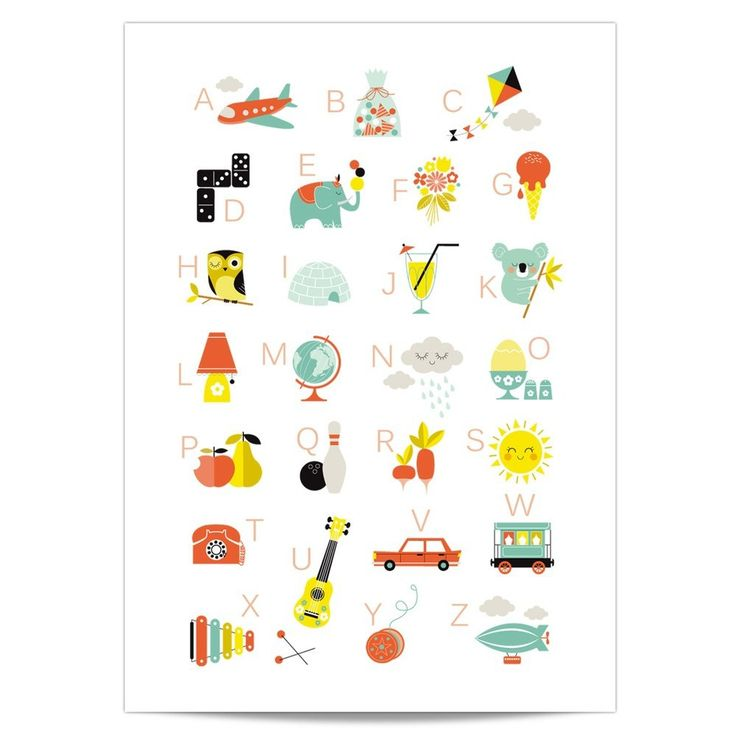 Home  House & Design  Room Decoration  Posters  Alphabet Poster