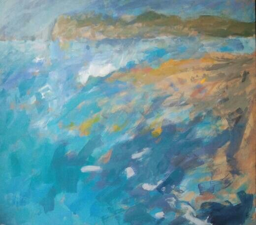 Balchik - The Thracian Cliffs, Acrylic on cardboard  43/46cm  2014