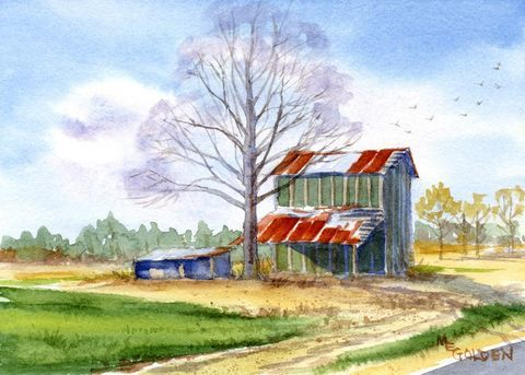 Tobacco Farming Art Prints Art Print Giclee Painting