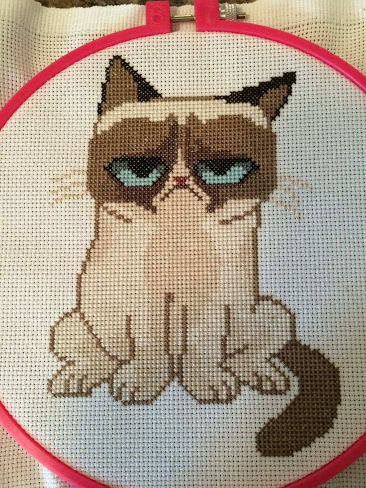 I Was a Cross Stitch Once. It Was Awful. Grumpy Cat Cross Stitch - NEEDLEWORK