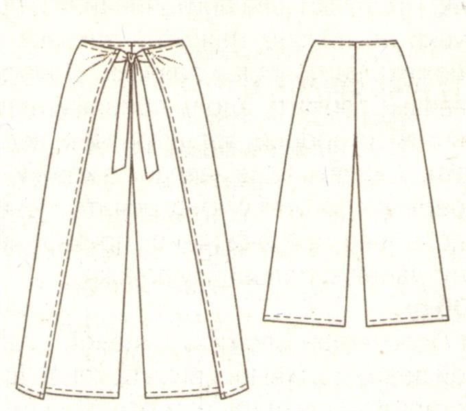 Сшить брюки на завязках быстро