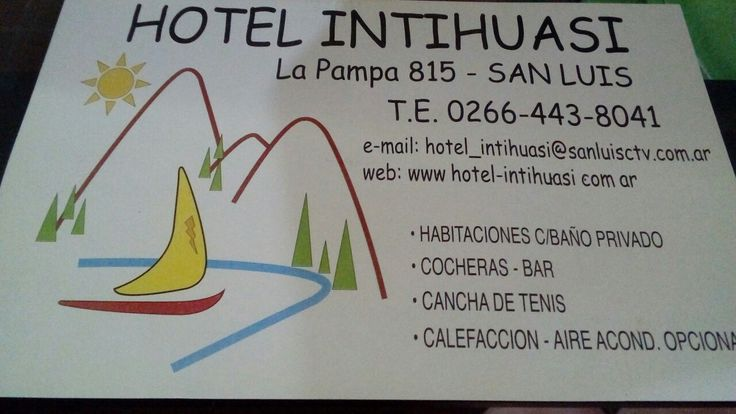 San Luis, Argentina. Hotel Intihuasi Pet friendly