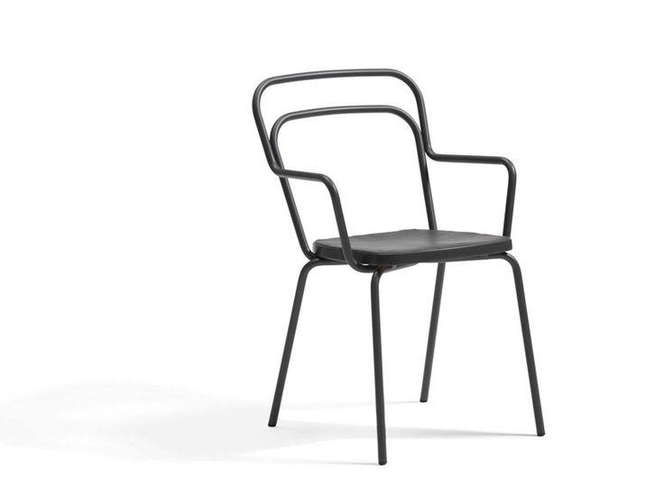 Chaise de jardin empilable en acier Collection Kaffe by Blå Station   design Thomas Bernstrand