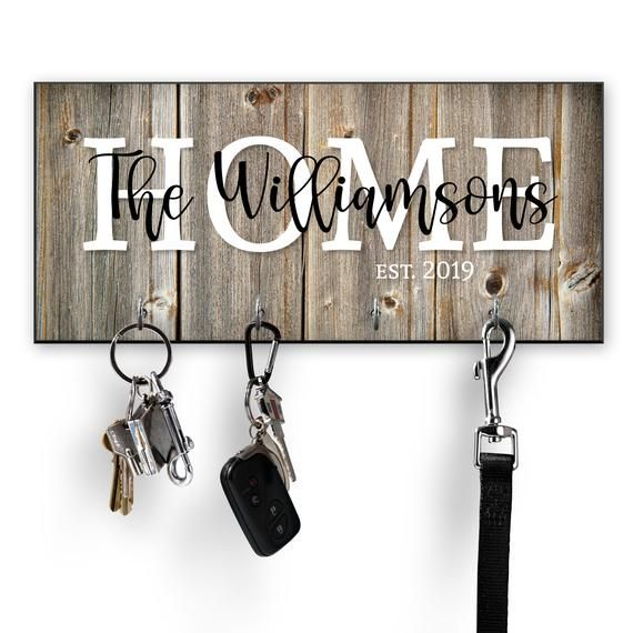 Key holder for wall with key rings Iron Hook key chain wall key holder key rack hallway decor entryway decor iron gifts manly gift mens gift