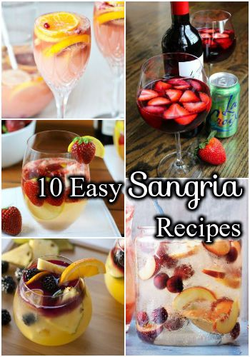10-Easy-Sangria-Recipes #recipe for you