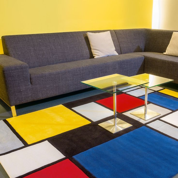 Tapis r tro dans mon salon design multicolore coloured cubes par arte espina - Tapis salon multicolore ...