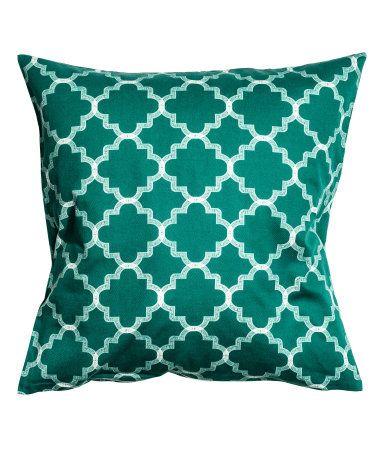 Printed Cushion Cover | Green | Home | H&M US