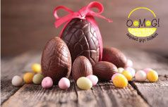 Why bunnies and chocolate eggs with Easter?  #giftbaskets #omggiftbaskets