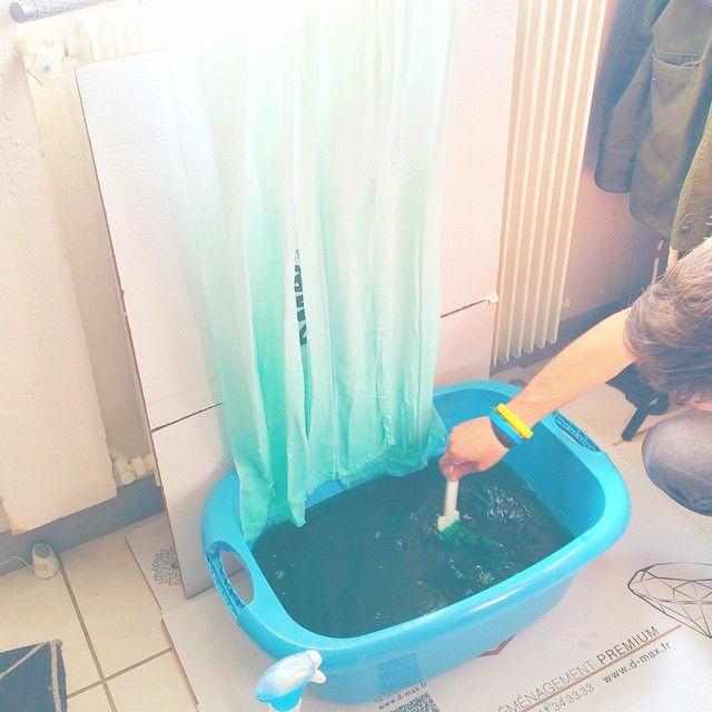 Cet aprem c'est atelier déco DIY Rideaux Tie and Dye Mint ! J-29 !#deco#mint#curtain#tiedye#diy#love#futurappart#turquoise#menthe#rideaux#rideauxtiedye#home