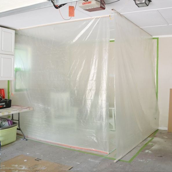 diy garage paint booth, garages, how to, painted furniture, painting