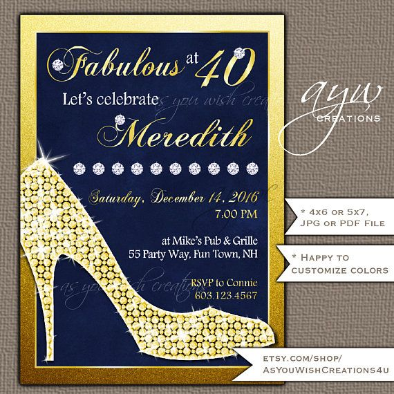 81 Best 40th Birthday Party Invitations For Men