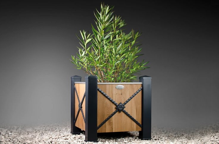 Symphonie Planters - ARIE is a very unique tree box that is extremely solid and stable in its construction. Its frames and columns are made from steel that is first zincgalvanized and then oven powder painted to create a hard finish that is tougher than conventional paint.