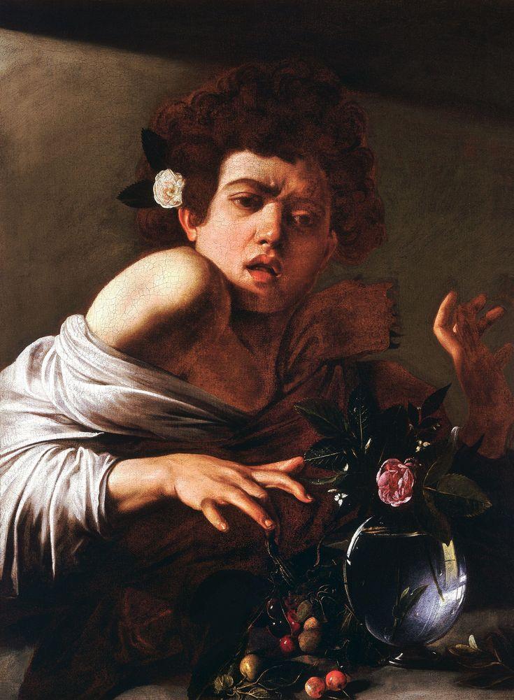 Boy bitten by a lizard, ca.1596, London, National Gallery