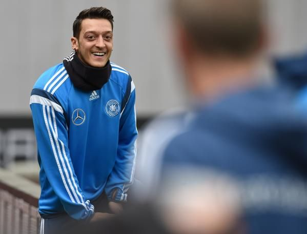 Mesut is happy.