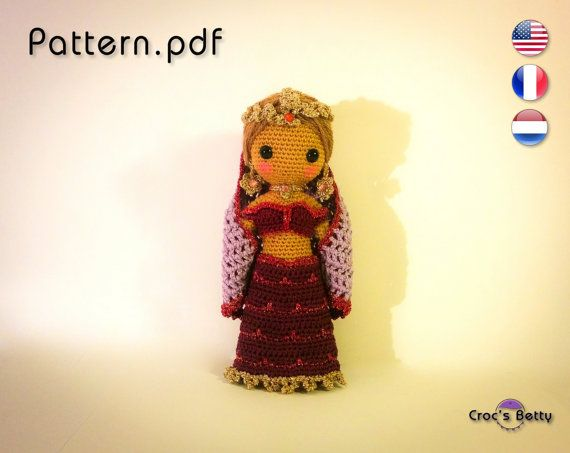 Pattern  Craquotine little Indian Dancer by CrocsBetty on Etsy