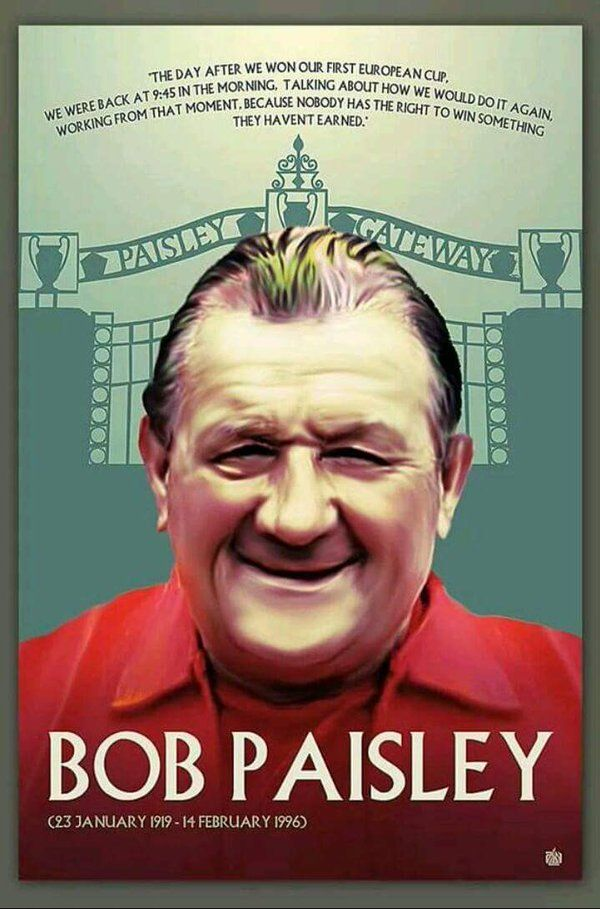 "The only British manager to win the European Cup 3 times, only man in the world ever to do so with the same club. Trophy rate 2.1 per season better than ""old red nose"" 1.4 and will ALWAYS be Sir Bob Paisley to ALL Liverpool fans. THE most successful manager in British football, and humble to boot! RIP"