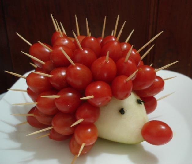 Un #hérisson en #tomate - #vegetable for #kid #tomato #légumes #funfood